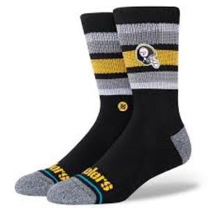 Stance Backfield Pittsburgh Steelers NFL Casual Collection Socks Large